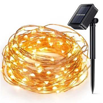 kuasa solar cahaya tali wayar tembaga